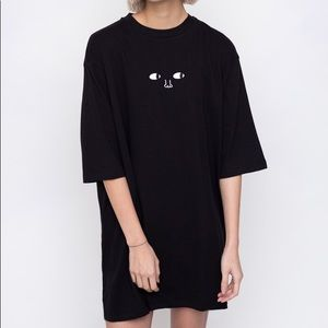 NWT Lazy Oaf 'Leave Me Alone' Oversized Shirt